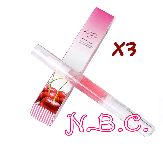 3x 5ML Nail Nutrition Oil Pen, Multi-Function Nail Gel Cuticle Oil Prevent Agnail, Nail Art Tools Mackup Accessories