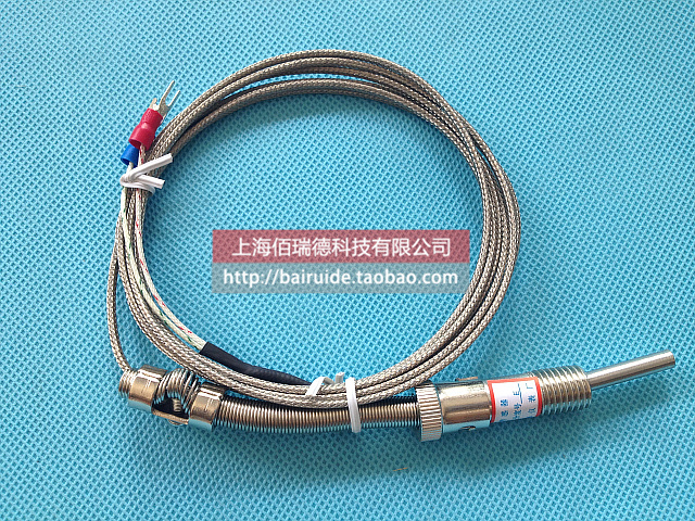 WRNT-01 K-type compression spring-type thermocouple / temperature sensor / temperature probe / stainless steel braided wire(China (Mainland))
