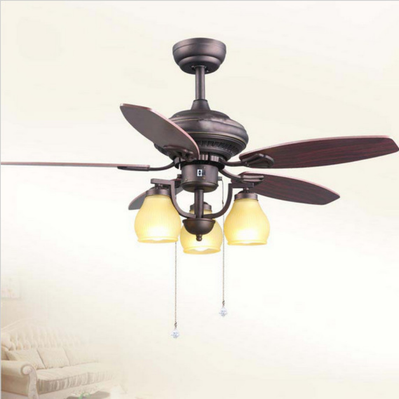 2015 limited time modern style ceiling fans lights 52 inch 3 LED holder wood blade ceiling fans and remote bedroom
