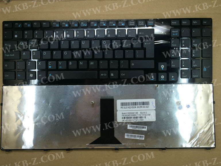 New US keyboard for Asus K93 K93SM K93SV K95 K95VB K95VJ K95VM X93 X93SM X93SV BIg Enter Black with Grossy frame V126202AK1(China (Mainland))