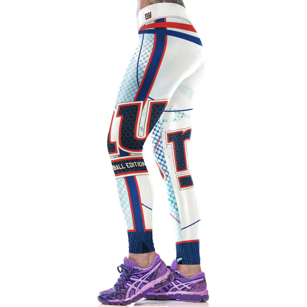 2017 New New York Giants American football team 3D printed Soccer Training Pants women Running Tights workout leggings(China (Mainland))