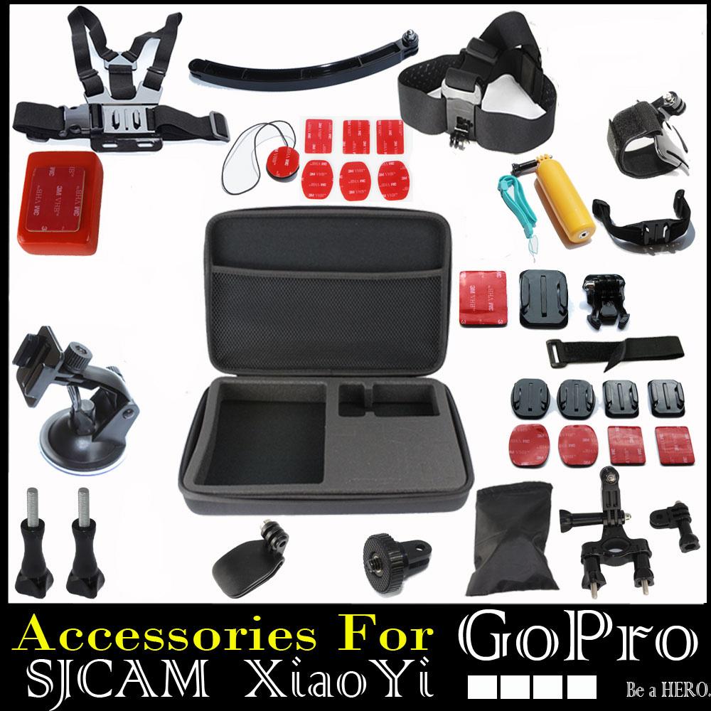 Go Pro Hero3 Full Gopro Accessories Mount Digital Mini Cam Tripod Bag Chest