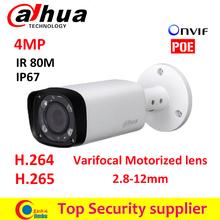 Dahua Poe varifocal motorized lens 2.8mm ~12mm camera IPC-HFW4431R-Z H.265 network CCTV camera 4MP IR 80M ip camera HFW4431R-Z(China (Mainland))