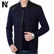 2015 New Arrival Men Fashion Jacket Dot Printing Hot Selling Jacket Men's Outerwear Casual Slim Clothing For Men Jackets(China (Mainland))