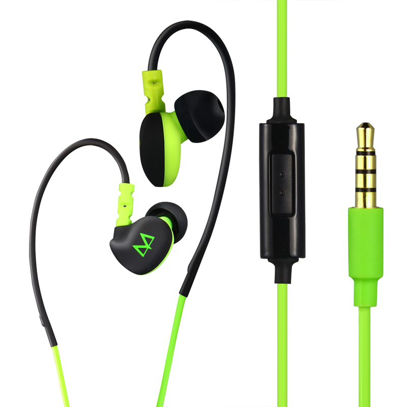 Free Shipping Maya S6 Deep Bass In Ear Hook Sports Earphones Music Running Headphone Waterproof with Mic for Cell Mobile Phone
