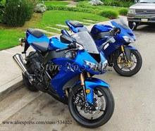 * ZX 10R Bodywork Set 2008-2010 blue ABS Plastic Fairing Kawasaki ZX10R 2008 2010 23 W2 - jialing xu's store