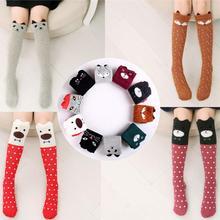 2016 Cartoon Cute Children Sock Print Animal Cotton Baby Kid Sock Knee High Long Fox Socks For Toddler Girl Clothing Accessories