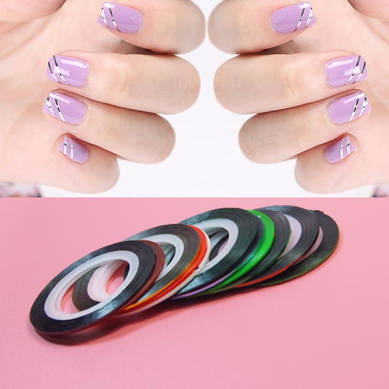 10pcs/set Striping Tape Line Nail Art Sticker Decoration DIY Decals UV Gel Acrylic Nail Tips for nail makeup