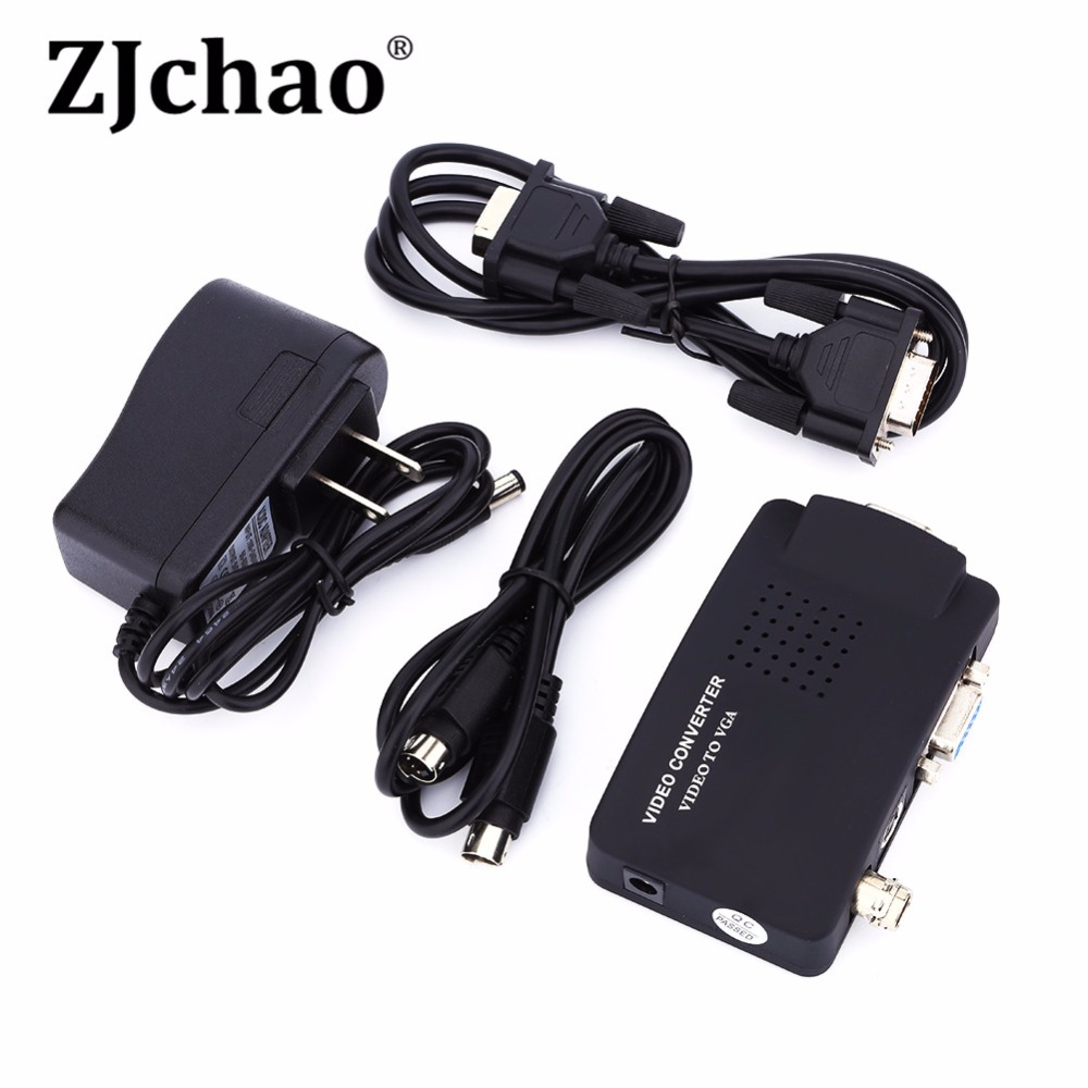 Portable DVD VCD DVR Camera Game Console TV BNC Composite S-video Input to PC VGA Out Converter Adapter Digital Switch Box 1080P(China (Mainland))