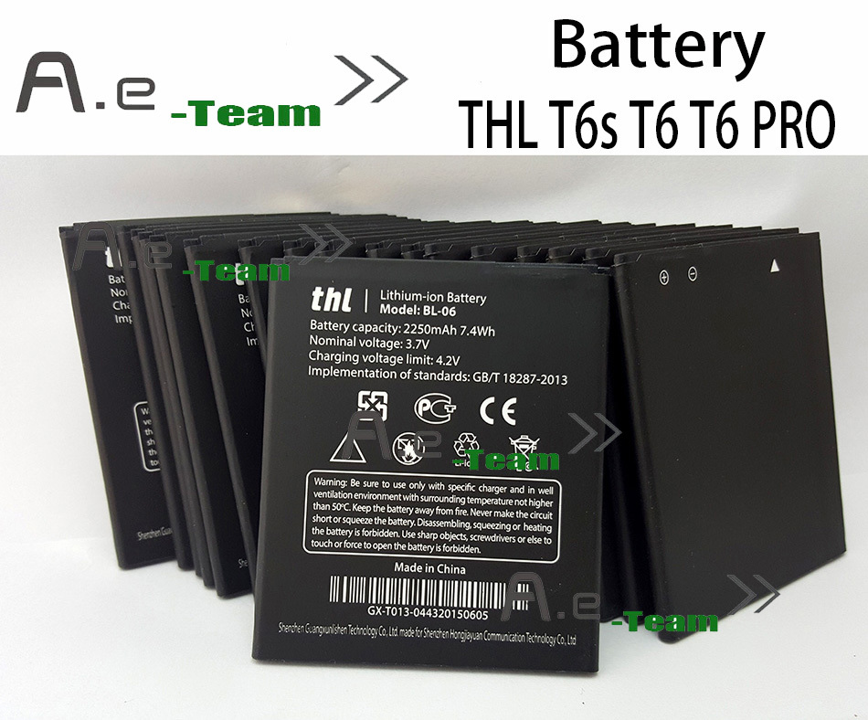 Official Original THL T6s Battery Newest Large Capacity BL 06 2250mAh Battery for THL T6 Pro