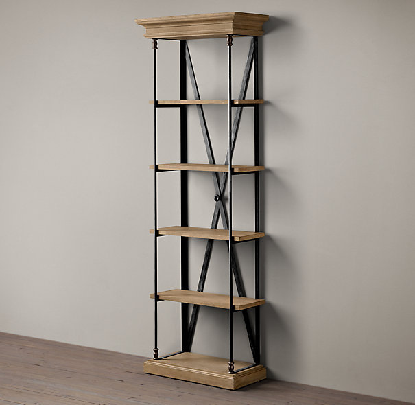 american country to do the old wrought iron wood shelving. Black Bedroom Furniture Sets. Home Design Ideas