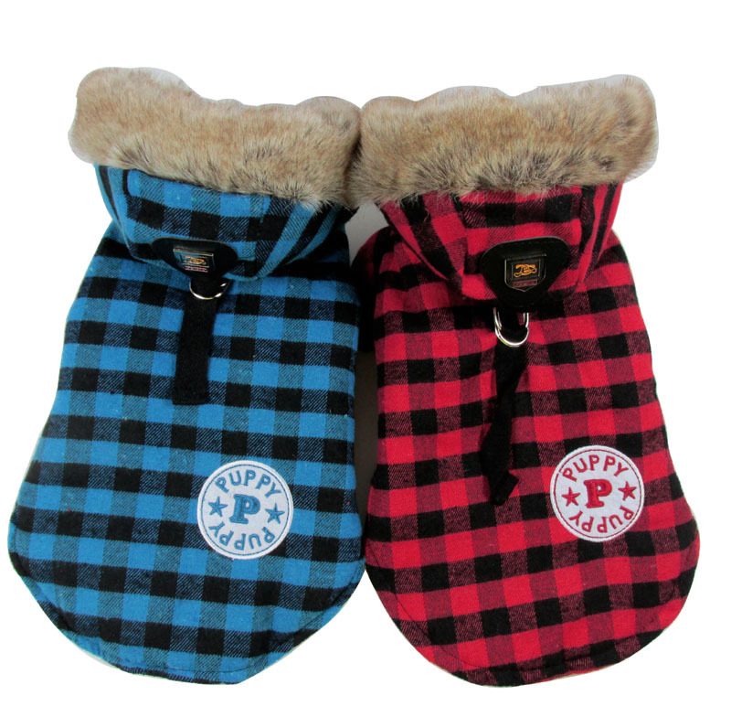 Pet clothes British style plaid pet grid clothes teddy dog clothes Autumn and winter dogs pets clothing(China (Mainland))