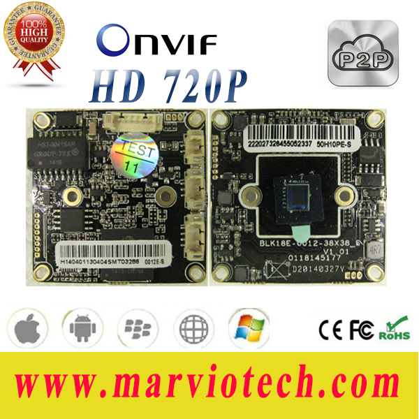 HD 720P 1.0MP High Definition IP Camera module + tail network wire DIY Your Own Security System Fast Shipping Hi3518 Chipset(China (Mainland))