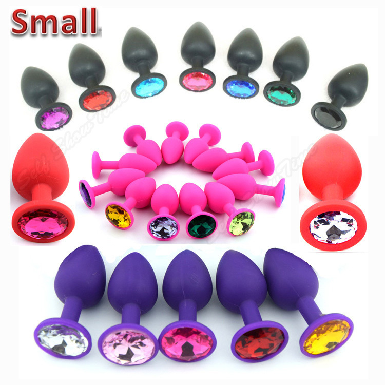 70*28mm Silicone Mini Anal Sex Toys For Women & Men, Erotic Butt Plugs + Crystal Jewelry, Adult Booty Beads Anus Products,AS023S(China (Mainland))
