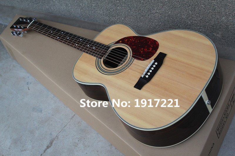Factory Customized 41 Inch Folk Acoustic Guitar, Rosewood Fingerboard,Tortoise Shell Pickguard,Original Color,Rounded Corners(China (Mainland))