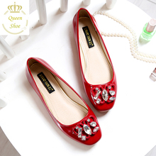 Buy 2016 New Arrival Spring Summer Women Flats Shoes Fashion Slip Casual Shoes Women Loafers Rhinestone Square Toe Ladies Shoes for $22.50 in AliExpress store