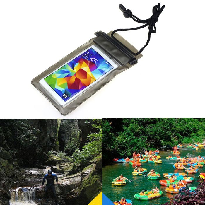 1PC Travel Swimming Waterproof Bag Case Cover for 5.5 inch Cell Phone Black(China (Mainland))