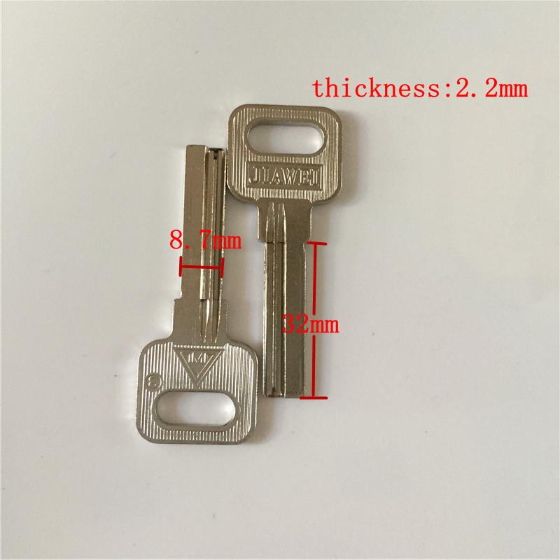 right slot home key blank 32mm length door blank keys wholesale lockpick tools[25pcs/lot](China (Mainland))