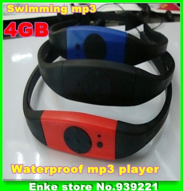 2015 hot sale Free shipping 4GB Waterproof Water Proof MP3 Player FM Radio Swimming Surfing SPA Black Red Blue -In stock(China (Mainland))