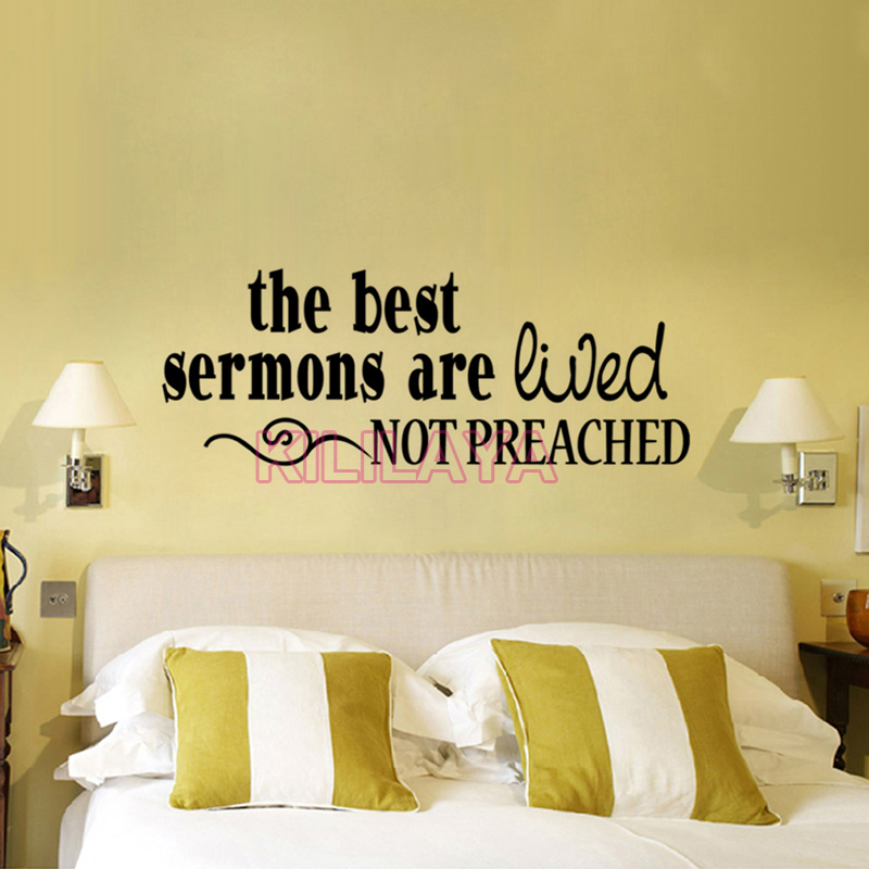 Christian The Best Sermons Are Lived Not Preached Vinyl