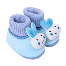 Nov03 Amazing 3-12 Month Baby Boy Girls Crib Shoes Infant Cotton Anti Slip Soft Sole Free Shipping(China (Mainland))