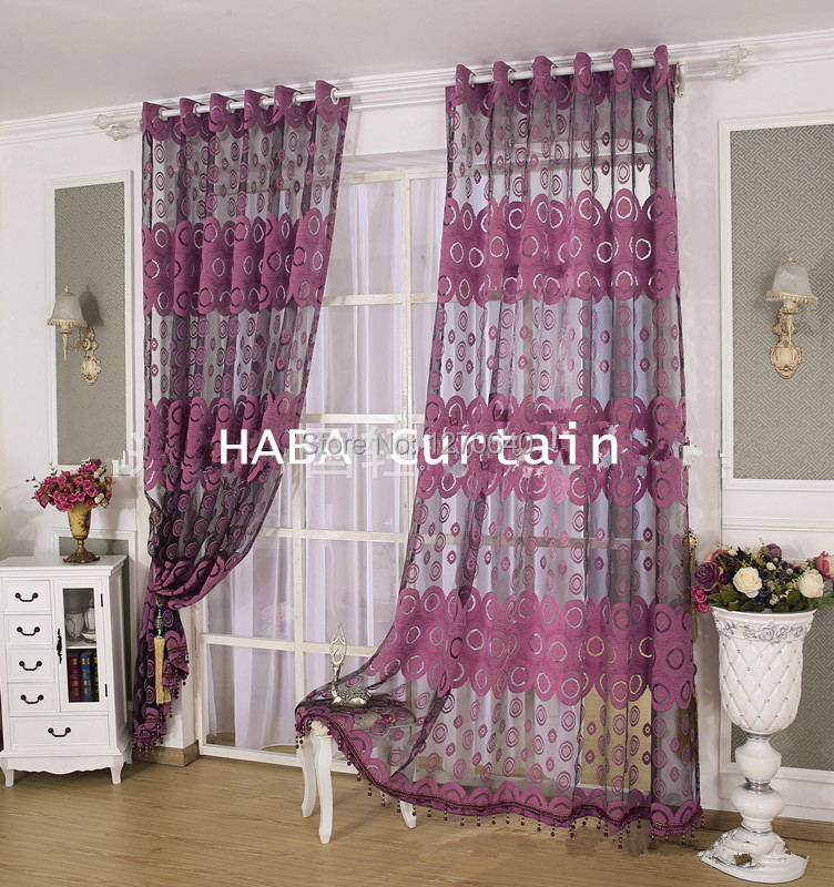 2color beautiful curtain design ideas tulle voile window curtains and drapes applique sheer curtain cool for - Drapery Design Ideas