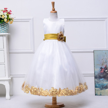 High Quality 13 colors New Floor length Flower Girl dress for Wedding party Princess girls Pageant Dresses 2015