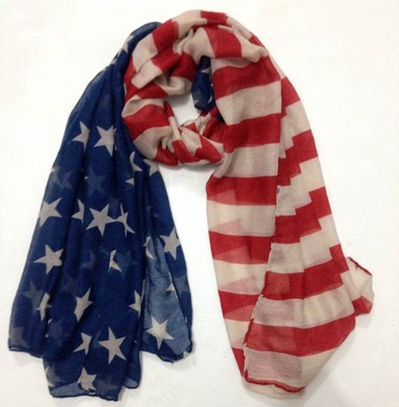 The 240th USA Independence Day Celebration Accessories American Flag Scarf(China (Mainland))