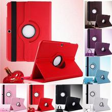 2015 New Litchi Pattern Case For Samsung Galaxy Tab 4 10.1 inch Tablet PU Leather Case Cover 360 Degrees Rotating