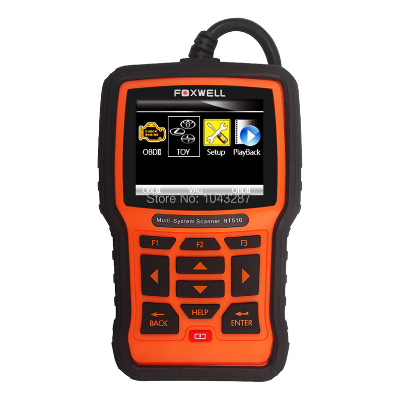 Professional Universal Car Diagnostic Tool Foxwell NT510 Multi-System Scanner For Toyota, Lexus, Sicon OBD2 Code Reader Scanner(China (Mainland))