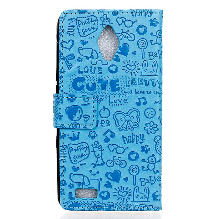 10pcs/lot For Asus live G500TG mobile phone leather case skin,for Asus G500TG magic girl pu leather stand cover,can mix color(China (Mainland))