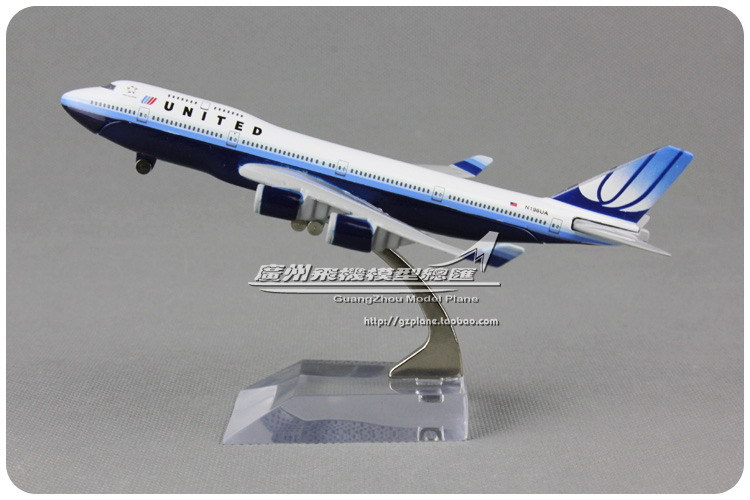 16cm Alloy Metal Air United Airlines Airplane Model Boeing 747 B747 400 N196UA Airway Plane Model W Stand Airplane(China (Mainland))