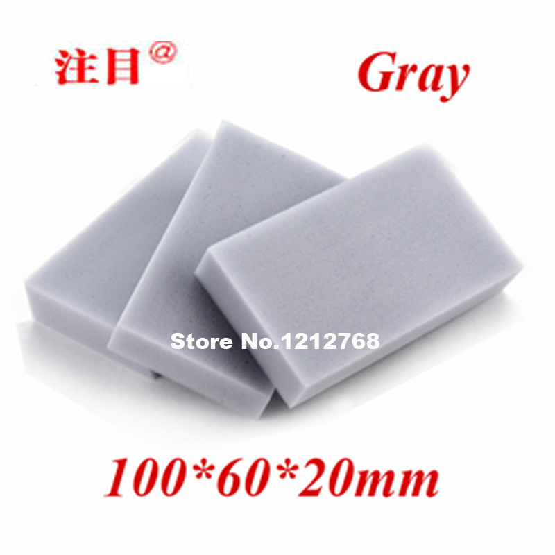 200pcs/lot, Free Shipping Magic Cleaning Sponge 100*60*20mm Melamine Sponge Eraser Multi-functional Sponge Gray(China (Mainland))