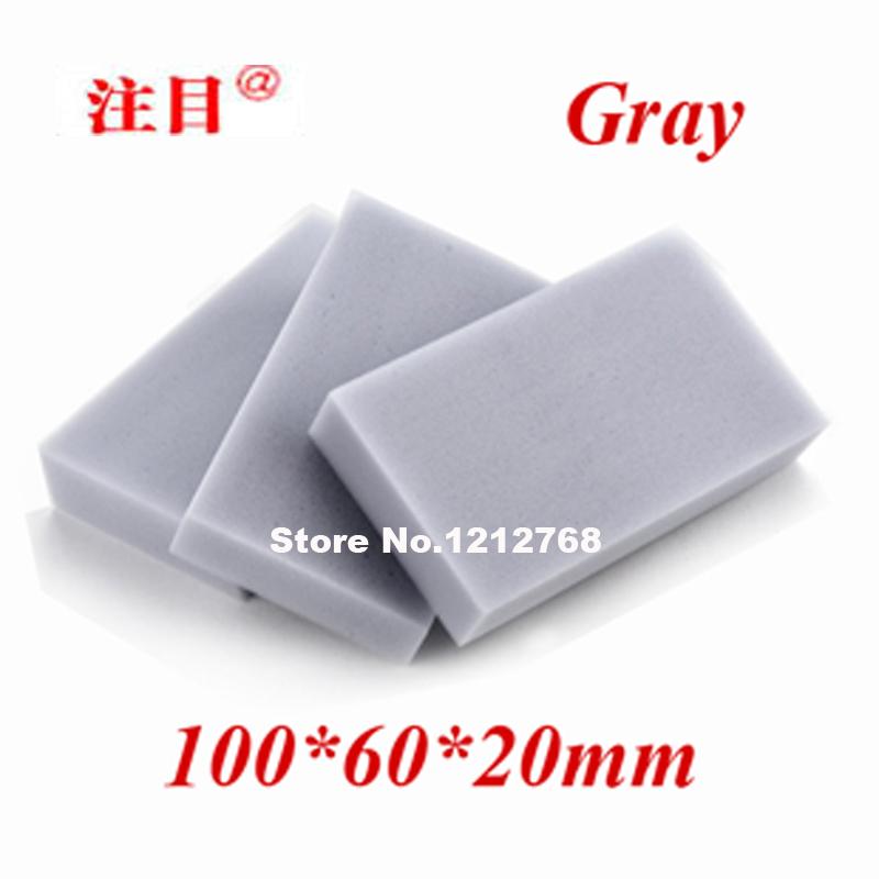 Гаджет  200pcs/lot, Free Shipping Magic Cleaning Sponge 100*60*20mm  Melamine Sponge Eraser Multi-functional Sponge Gray None Дом и Сад