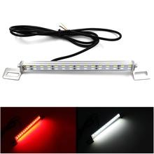 Universal 1 Set LED Car Reverse Brake Auxiliary Light IP67 Waterproof  Two In One Rear Backup Brake Lamp Styling Lights Source(China (Mainland))