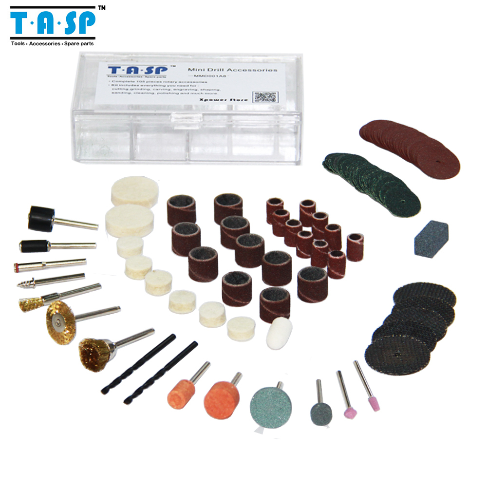 105PC Dremel Accessories Set Mini Drill acessorios Kit for Rotary Power Tools Polishing Cutting Grinding Drilling