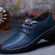 Men Moccasin New Exquisite Craftsmanship Top Leather Shoes, Breathable Casual Shoes Men Super Comfortable Non-slip shoes x252