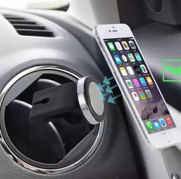 2016 New Mini Universal Vehicle Car Air Vent Outlet Phone Mobile Magnet Magnetic Holder Stand for Apple iphone ipad GPS Samsung(China (Mainland))