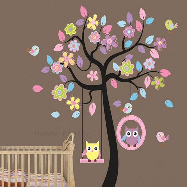 owls birds trees wallpaper. Black Bedroom Furniture Sets. Home Design Ideas
