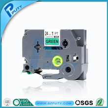 24mm tze label tape black on green tze 751 tze-751 for brother labelling machine label cassettes