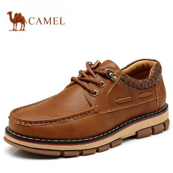100% genuine leather boots brand winter snow boots men outdoor boots top quality cow leather shoes hiking shoes size 38~44
