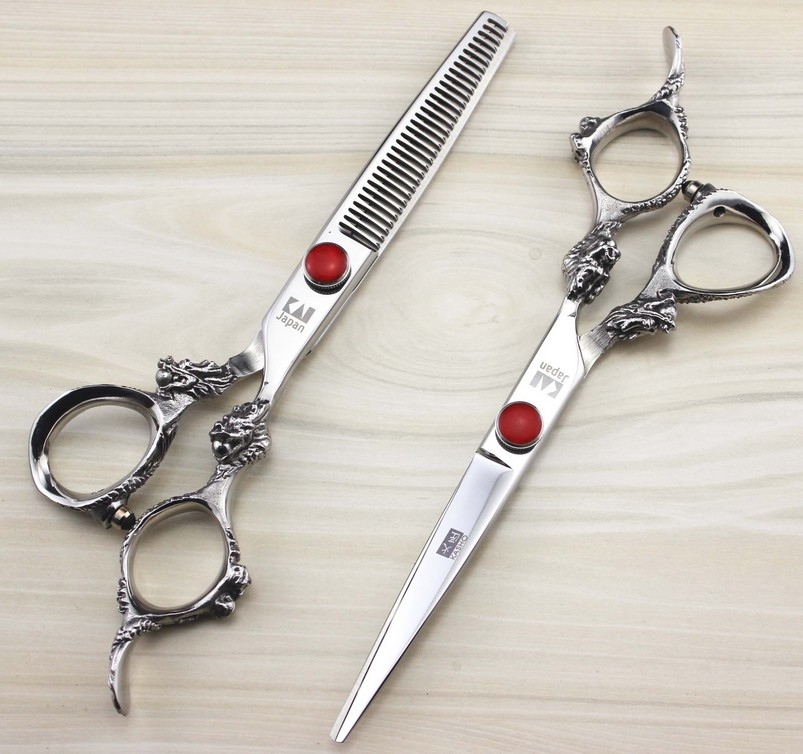 2pcs 2016 Kasho 6.0 inch Hair Scissors pro tesoura hairdressing styling tools salon cutting scissors set(China (Mainland))