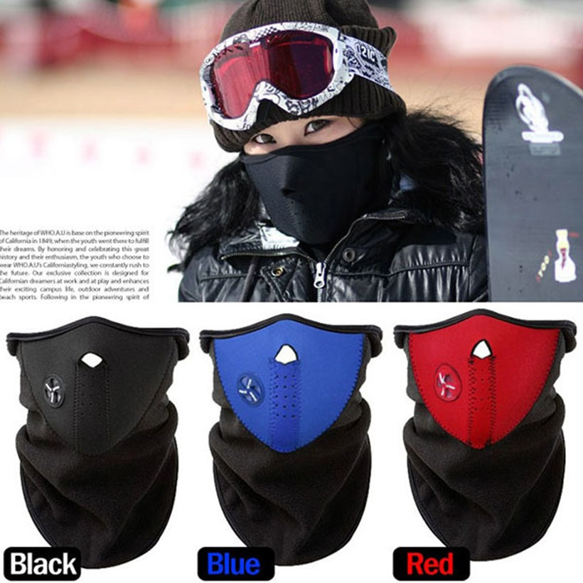 3 color Thermal Neck Warmers Fleece Balaclavas Hat Headgear Winter Skiing Ear Windproof Face Mask Motorcycle