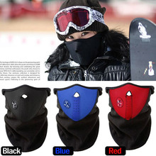 3 color Thermal Neck Warmers Fleece Balaclavas Hat Headgear Winter Skiing Ear Windproof Face Mask Motorcycle Bicycle Scarf