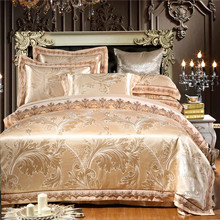 Luxury Silk Bedding Set lace bedclothes Satin bed linen/sheet set Queen/King Size Home textile duvet cover(China (Mainland))