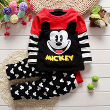 baby 2pcs clothing set!! new unisex baby kids clothes children clothing full sleeve minnie mouse tops dot long pants