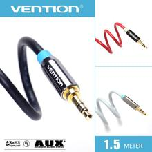 VENTION!1.5M/5TF AUX Cable Red Color Audio Cable For Car 3.5mm male to male 3 color cable