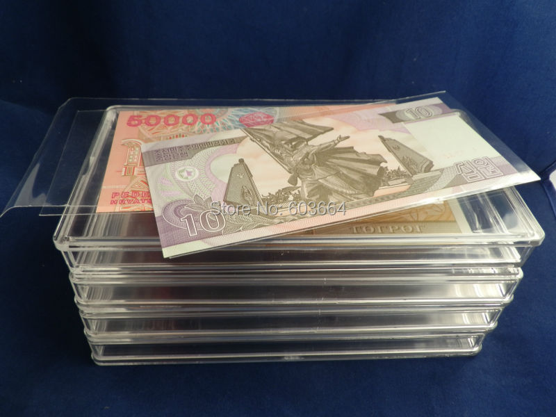 Direct fit paper money currency bill box plastic case glass container 10pcs/lot, Free shipping<br><br>Aliexpress