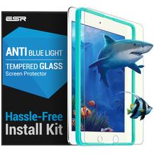Glass Film for iPad mini 4 , ESR Anti Blue-ray Blue Light Tempered Glass Screen Protector with Free Applicator for iPad mini 4(China (Mainland))