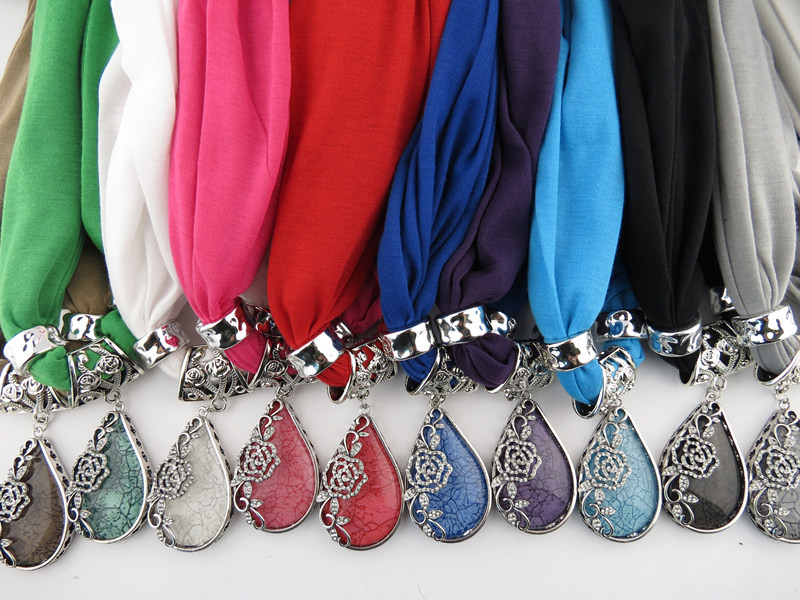 Winter Scarf Women Charms Scarfs 2016 Water Drop Necklace Pendant Jewelry pendants Scarves